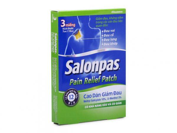 SALONPAS PAIN RELIEF PATCH (HỘP 3 MIẾNG)