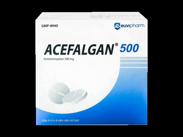 Viên sủi giảm đau hạ sốt ACEFALGAN 500mg