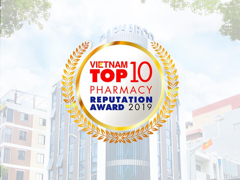 Dapharco giữ vững vị trí top 10 Công ty Dược Việt Nam uy tín năm 2019