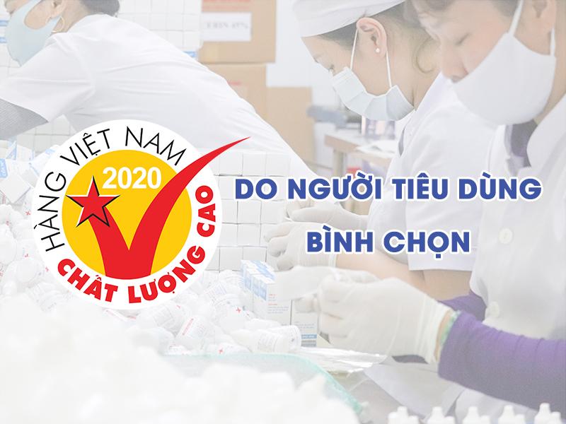 """Chứng nhận """"Hàng Việt Nam chất lượng cao 2020"""" khẳng định lòng tin người tiêu dùng đối với thương hiệu Dapharco"""