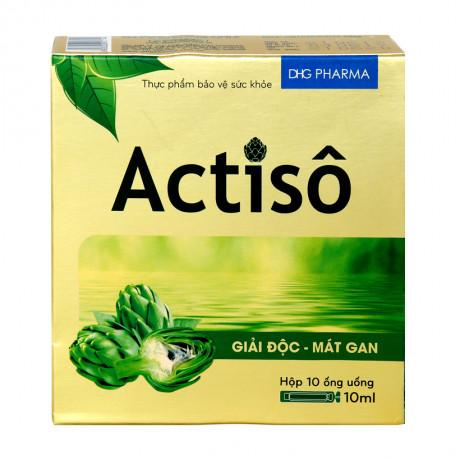 Thực phẩm bảo vệ sức khỏe giải độc, mát gan Actiso (Hộp 10 ống)