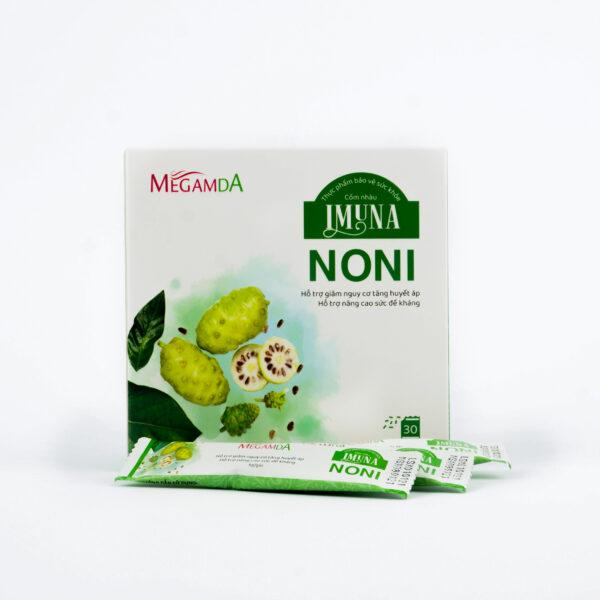 Cốm Nhàu Imuna Noni – Hỗ trợ giảm nguy cơ tăng huyết áp, nâng cao sức đề kháng- (Hộp/ 30 gói)