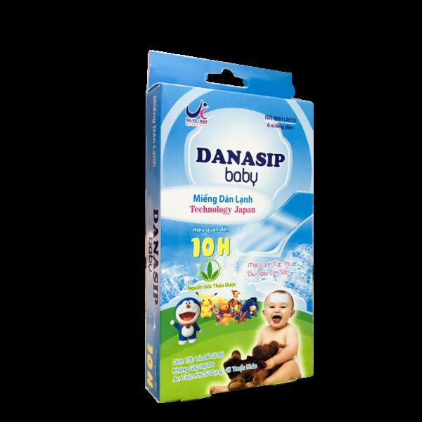 Miếng dán hạ sốt Danasip Baby ( Hộp/6 miếng)