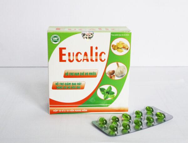 EUCALIC (Hộp /100 viên)- Giảm đau rát cổ họng, giảm ho