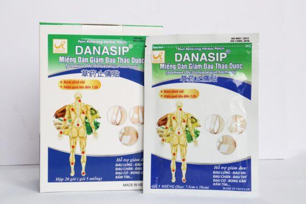 Miếng dán giảm đau thảo dược DANASIP (Hộp/ 20 gói x 5 miếng)
