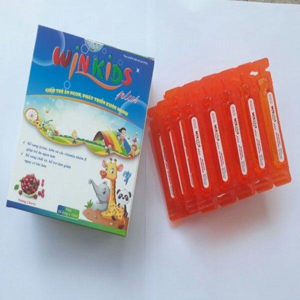 WINKIDS PLUS (Hộp 20 ống x 10ml)- Giúp trẻ ăn ngon, Bổ sung chất xơ giảm nguy cơ táo bón, tăng cường sức khỏe